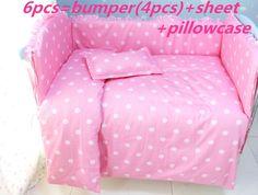 Günstige Förderung! 6 Stücke rosa Baby Bettwäsche Set 100% Baumwolle Krippe Bett Set Baby Bettwäsche Jungen Babybett, enthalten (Stoßfänger + Blatt + Kissenbezug), Kaufe Qualität Bettwäsche-Sätze direkt vom China-Lieferanten: Promotion! 6pcs Embroidery Baby Bedding Crib Set Promotion Good Quality,include (bumpers+sheet+pillow cover)US $ 42.80/p