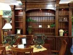 "Gorgeous Wooden Carved Bookcase & Entertainment Center with hidden remote controlled media drawer/lift -  Stop into one of our two incredible families thrift stores in Naples and support our organization ""doing the most good"" whilst furnishing your home beautifully! 2255 Davis Blvd and 2313 Davis Blvd or schedule a donation pickup by calling 239-775-0721 today. www.salvationarmynaples.org"