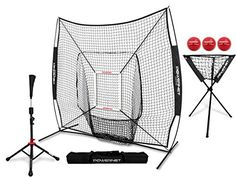 PowerNet DLX Pro Bundle (Baseball Softball Net w/ Strike Zone, 3 Training Balls, Travel Tee, & Ball Caddy) - Best Softball Bats + Baseball Bats & Gloves Slowpitch Softball Helmets Fastpitch Softball Baseball Catchers Gear, Baseball Gear, Baseball Training, Better Baseball, Baseball Equipment, Sports Training, Training Equipment, Baseball Bats, Softball Bags