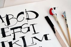 Cola Pen Handlettering   Calligraphy