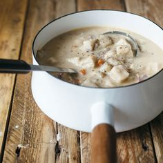 German Chicken Soup with Dumplings: This is blogger Molly Yeh's simple and hearty take on knoephla, the traditional German soup filled with dense, chewy and satisfying dumplings.