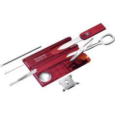 Victorinox SwissCard Lite, les avantages d'un couteau suisse de la taille d'une carte bleue http://www.equipement-de-survie.fr/produit/multitools/pocket-tool/victorinox-swisscard-lite