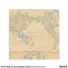 World Map of the Shipping Canals