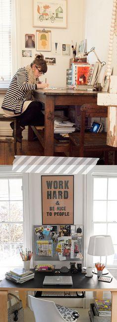 work hard // office space