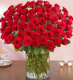 Order 100 Premium Long Stem Red Roses flower arrangements from All Flowered Up Too, your local Lubbock, TX florist. Send 100 Premium Long Stem Red Roses floral arrangement throughout Lubbock and surrounding areas. 100 Red Roses, 800 Flowers, Most Popular Flowers, Valentines Flowers, Rose Vase, Beautiful Rose Flowers, Flower Delivery, Floral Arrangements, Deco