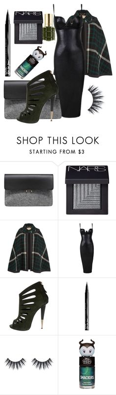 """Cape coat"" by caitlintol on Polyvore featuring MANGO, NARS Cosmetics, Burberry, Giuseppe Zanotti, NYX and L'Oréal Paris"