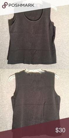 Black tank top Liz Claiborne size L Black tank top Liz Claiborne size Large 70% 30% Nylon. Like new. Liz Claiborne Tops