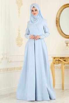 Hijab Evening Dress, Hijab Dress, Evening Dresses, Kebaya Muslim, Muslim Dress, Indonesian Girls, The Dress, Baby Blue, Beautiful Women