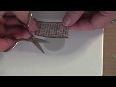 ▶ How to transfer old dictionary words onto polymer clay