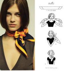 852d8fbf6490 29 Best Hermes Knotting cards images   Scarves, How to wear scarves ...