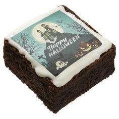 #Spooky Haunted House Costume Night Sky Halloween Chocolate Brownie - #halloween #brownies #sweets #goodies