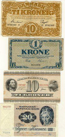 Old money bills Denmark History, Danish Culture, Kingdom Of Denmark, Danish Christmas, Denmark Travel, Old Money, Family Roots, Old Coins, Copenhagen Denmark