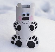 42-polar-bear-craft  http://hative.com/homemade-animal-toilet-paper-roll-crafts/