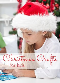 Great Christmas Crafts for Kids! My 6, 4 and 2 year old LOVE these!