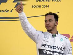 Lewis Hamilton on top of the podium #Russia2014