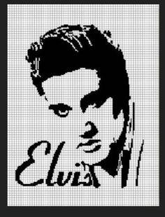 Cozyconcepts elvis presley #2 crochet pattern graph afghan .pdf
