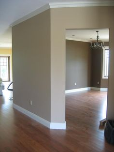 Nice wall color with wood floors