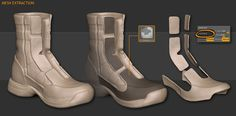// Polishing an Army Boot by Henrique Naspolini / ZBrush tutorial from 3dtotal.com