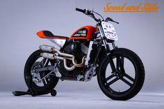 Exclusive: Speed & Style - Brawny Built Custom 2015 Harley-Davidson XG750 Motor.    http://hotbikeweb.com/exclusive-speed-and-style-brawny-built