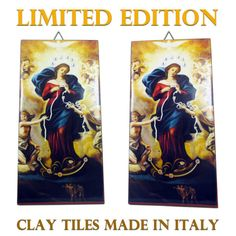 Virgin Mary undoer of knots - religious icon on clay tile - Our Lady untier of knots - catholic gift - Mother Mary - holy art - devotional