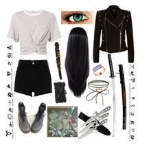 """""""Elizabeth Branwell"""" by octaviabranwell ❤ liked on Polyvore featuring Balmain, T By Alexander Wang, River Island, Dr. Martens, Stele, Accessorize, Monica Vinader and Monza"""