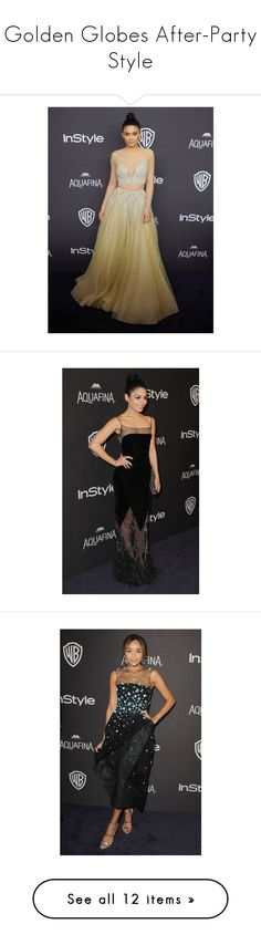 """Golden Globes After-Party Style"" by polyvore-editorial ❤ liked on Polyvore featuring GoldenGlobes"