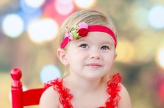 Christmas Cookie Rosette Headband Baby by extrafrostingplease, $12.00