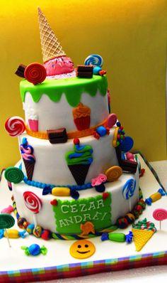 COMANDA TORT BUCURESTI: Tort de botez Candy.... Cakes, Desserts, Food, Tailgate Desserts, Deserts, Cake Makers, Kuchen, Essen, Cake