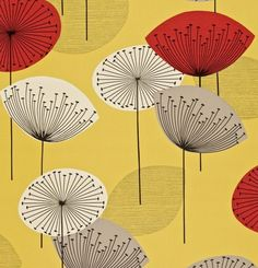 Dandelion Clocks Yellow/Red DFIF210239