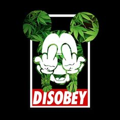 Mickey Weed Disobey Art Print by Spyck
