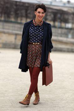 Brown + Blue | Street Fashion | Street Peeper | Global Street Fashion and Street Style