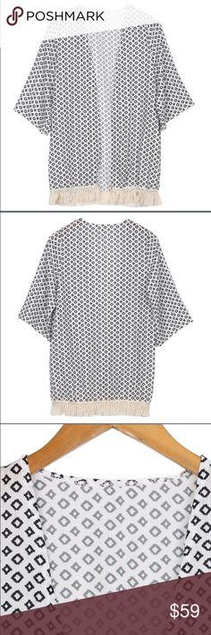 Floral Print Tassels Fringe Kimono Blouse Cardigan Brand new/ no tags Sweaters Cardigans