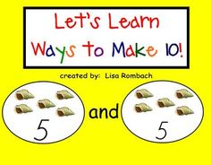 Ways to Make 10 SmartBoard Lesson for Primary Grades (.notebook file) FREE*****