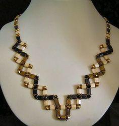 Collier look tressé en perles Tila (Tila beads for an original necklace) - kit avec instructions de montage