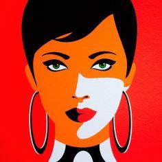 Portrait Illustration, Graphic Illustration, Art Painting Gallery, Cute Patterns Wallpaper, Cool Art Drawings, Diy Canvas Art, Portrait Art, Vector Art, Pop Art