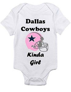 I need this!!! Amazon.com   Dallas Cowboys GIRLS fan Shirt Infant Baby  Onesie 0-3 Months   Baby f4f1ddd9d