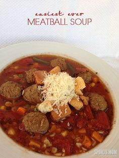 Easy Meatball Soup. Prep to eat time is 15 minutes!