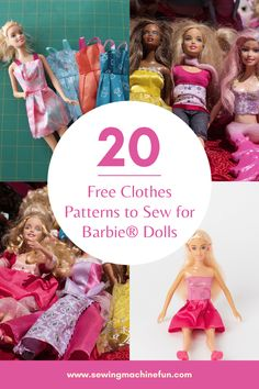 Sewing Barbie Clothes, Barbie Sewing Patterns, Barbie Dolls Diy, Doll Dress Patterns, Baby Doll Clothes, Sewing Dolls, Clothing Patterns, Barbie Stuff, Free Printable Sewing Patterns