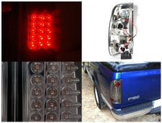 Spec-D Tuning LT-F15097GLED-TM Ford F150 F250 F350 Style side Smoked Led Tail Lights