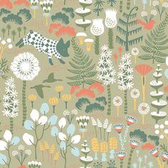 Hoppmosse Green wallpaper by Boråstapeter