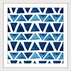 Blue Triangle Bows - Marmont Hill. Abstract art on canvas, also available as framed art. Shipped ready to hang.
