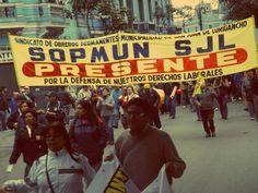 Todos los gremios y sindicatos eran uno solo durante la marcha [Foto: Candy Castro / Spacio Libre]