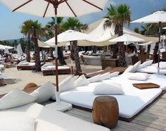 Côte d'Azur, France, Europe: quieter moment at Nikki Beach Club, one of the oceanside establishments that are St. Tropez's