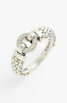 Lagos 'Enso' Diamond & Caviar™ Ring