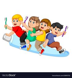 Kid riding big tooth pasta and holding tooth brush Animals Name In English, Dental Photos, Airplane Vector, Big Teeth, Dental Art, Happy Teachers Day, Flower Sketches, Kids Ride On, My Themes
