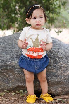 """""""Little Miss Pumpkin"""" INFANT Onesie"""