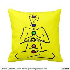 Chakra Colours Throw Pillow