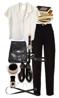 """""""Untitled #8918"""" by nikka-phillips ❤ liked on Polyvore featuring Chanel, agnès b., Ray-Ban, Burberry, Shinola and H&M"""