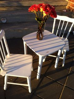 children's table and chairs by Thistle Thatch Designs