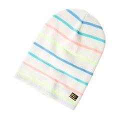 Glow in the Dark Striped Knit Beanie Hat | Claire's